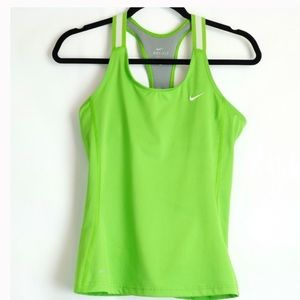Nike Dri-Fit racerback tank w built-in bra small